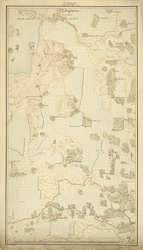 Map of the Red Hills and tank, Madras Presidency, showing the villages of Connoor and Corembet. By John Mustie.